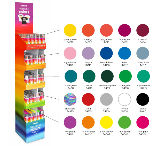 H2O Textile Color display